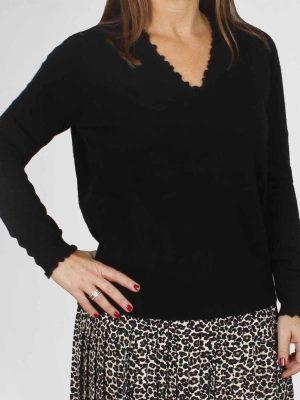 Allude Pullover Vhals Zwart
