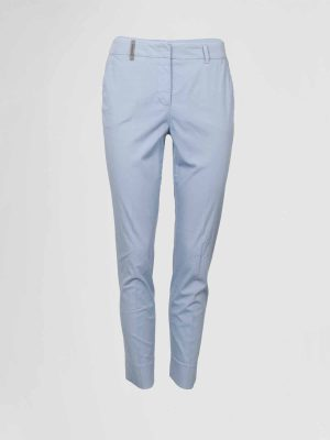 Peserico Pantalon Lichtblauw