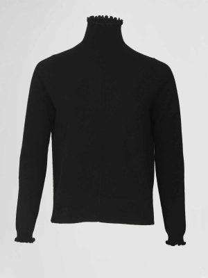 Allude Col Pullover Zwart