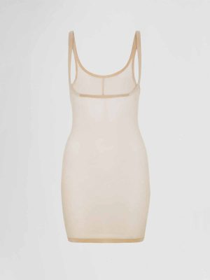 Jurk Wolford Tulle Forming Dress Nude